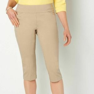 Christopher & Banks Slimming Capri Pant Modern Fit